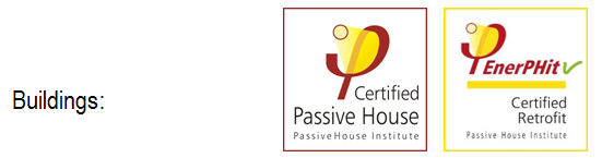 Building certification: Passive House and EnerPHit seals